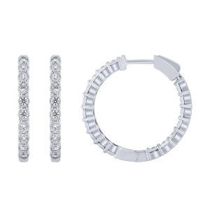 """1CT. T.W. """"DOUBLE-VISION"""" ILLUSION HOOPS IN 14K GOLD"""