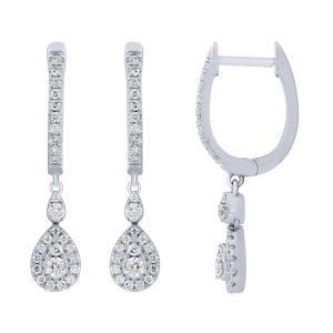Love Spell® 0.45 CT. T.W. Diamond Earrings In 14K Gold