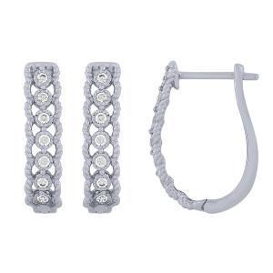 0.2 CT. T.W. Hoop Earrings In 14K Gold
