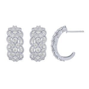 1.50 CT. T.W.  Diamond Earrings In 14K Gold