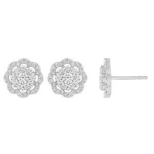 Ovani® Collection 0.78 CT. T.W. Diamond Earrings In 18K Gold