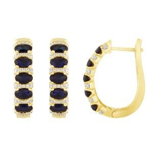 0.4 CT. T.W. Created Sapphire Earring In 10K Gold
