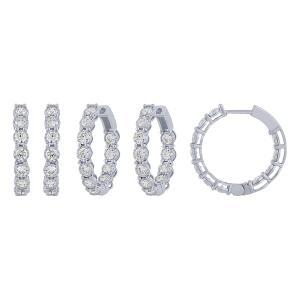 Diani® Collection 2 CT. T.W. Diamond Double Vision Hoop Earrings In 14K Gold