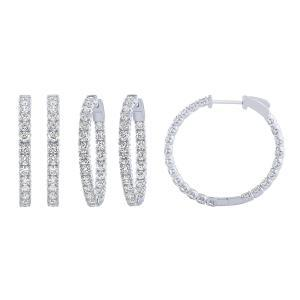 Diani® Collection 4.00 CT. T.W. Double Vision Diamond Hoop Earrings In 14K Gold