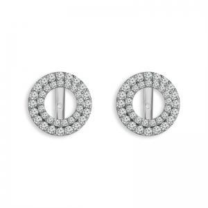 """0.5CT. CENTER AND 1.5CT. T.W. """"Diani® COLLECTION"""" DIAMOND EARRINGS IN 14K GOLD"""