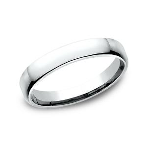 European Comfort-Fit Wedding Ring in 14K White Gold (3.5 mm)