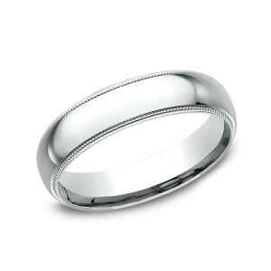 Milgrain Standard Comfort Fit Ring in Platinum (5 mm)