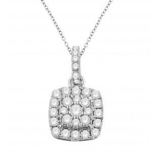 """0.65CT. T.W. """"ULTIMATE VALUE®""""  HALO PENDANT IN 10K GOLD"""