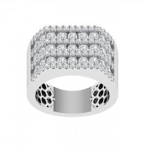 3.1CT. T.W. DIAMOND GENTS RING IN 14K GOLD  VVS2-VS2 CLARITY DIAMONDS
