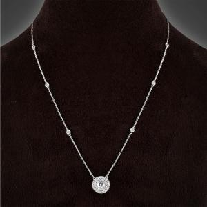 """0.4CT. CENTER AND 1CT. T.W. """"NOVELLO-COLLECTION"""" LAB GROWN DIAMOND NECKLACE IN 14K GOLD"""