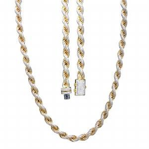 29.18CT. T.W. DIAMOND GENTS ROPE NECKLACE IN 14K GOLD