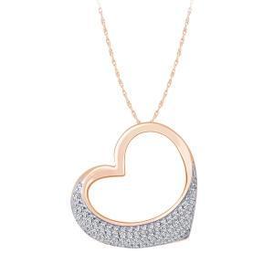 0.25 CT. T.W. Heart Diamond Pendant In 10K Gold