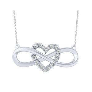 0.1CT. T.W. DIAMOND HEART INFINITY NECKLACE IN 10K GOLD