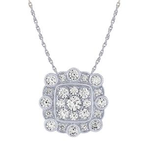 "0.63CT. T.W. ""Ovani®22"" PENDANT WITH DIAMOND CHAIN IN 18K GOLD"
