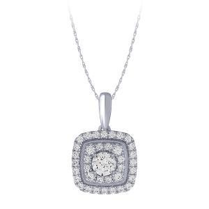 Novello-Collection 0.40 CT. Center And 0.90 CT. T.W. Lab Grown Diamond Pendant In 14K Gold