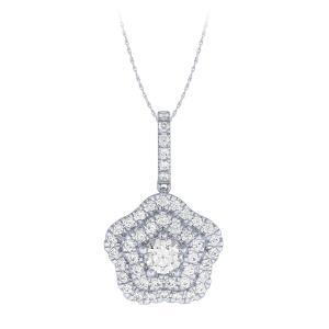 Novello-Collection 0.40 CT. Center And 1.00 CT. T.W. Lab Grown Diamond Pendant In 14K Gold