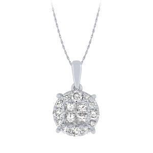 """0.75CT. T.W. """"Diani®-COLLECTION"""" PENDANT IN 14K GOLD"""