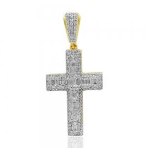 1.80 CT.T.W. Diamond Cross Pendant in 14K Gold