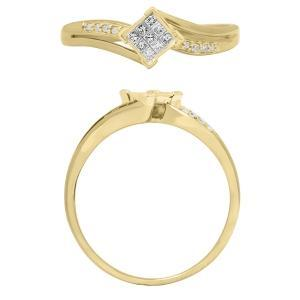 0.15 CT. T.W. Diamond Ring In 10K Gold