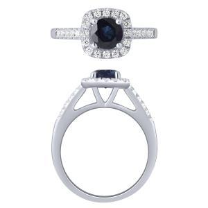 0.33 CT. T.W. Created Sapphire Ring In 10K Gold