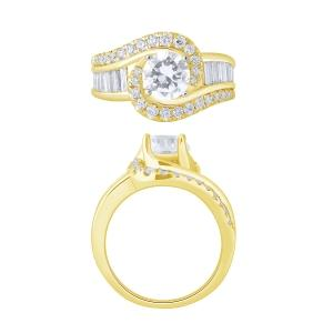 Diani® Collection 1.00 CT. T.W. Semi-Mount With CZ Center In 14K Gold