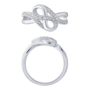 0.2 CT. T.W. Infinity Lady's Ring In 10K Gold