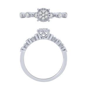 0.16 CT. T.W. Promise Ring In 10K Gold