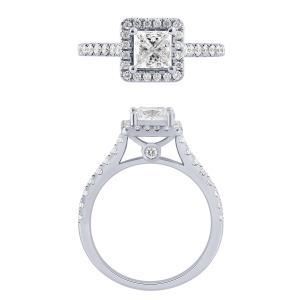 """1CT. CENTER AND 1.5CT. T.W. """"Diani®-COLLECTION"""" BRIDAL RING IN 14K GOLD"""