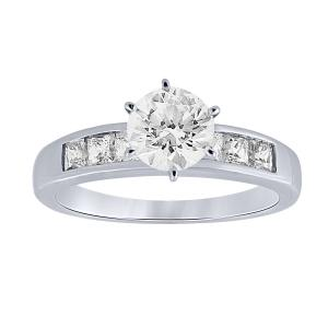 1 CT. T.W. Diani Collection CZ Center Bridal Set In 14K Gold