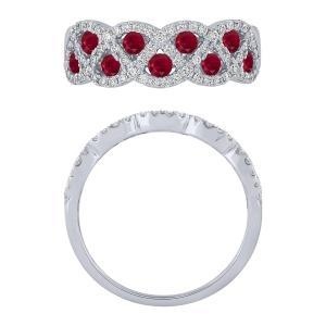 "0.38CT. T.W. ""Ovani® COLLECTION"" DIAMOND 0.65CT RUBY RING IN 18K GOLD"