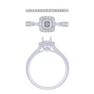 "0.5CT. CENTER AND 0.88CT. T.W. DIAMOND ""Ovani®-COLLECTION"" BRIDAL SET IN 18K GOLD"