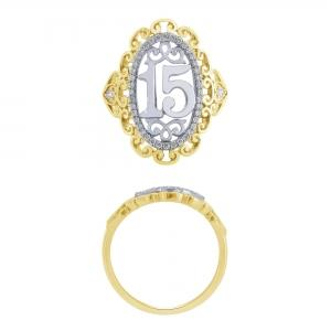 Sweet 15 Girls 0.20 CT. T.W. Diamond Ring In 14K Gold