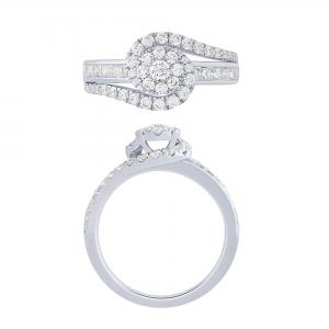 """1.25CT. T.W. """"Diani® COLLECTION"""" DIAMOND BRIDAL RING IN 14K GOLD"""