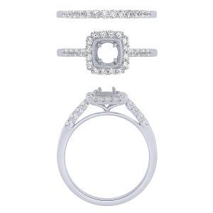 "0.5CT. CENTER AND 1.03CT. T.W. DIAMOND ""Ovani®-COLLECTION"" BRIDAL SET IN 18K GOLD"