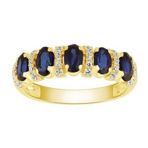 0.2 CT. T.W. Created Sapphire Ring In 10K Gold
