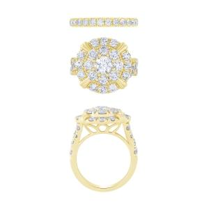 """0.85CT. CENTER AND 5.1CT. T.W. """"NOVELLO-COLLECTION"""" LAB-GROWN DIAMOND BRIDAL SETS IN 14K GOLD"""
