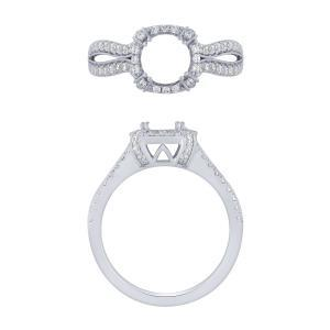 Ovani® Collection 1/2 CT. T.W. Diamond Semi-Mount with CZ Center In 18K Gold