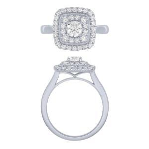 Novello-Collection 0.40 CT. Center And 0.90 CT. T.W. Lab Grown Diamond Ring In 14K Gold