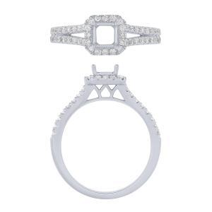 """0.75CT. CENTER AND 1.25CT. T.W. """"NOVELLO-COLLECTION"""" LAB GROWN DIAMOND BRIDAL RING IN 14K GOLD"""