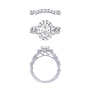 Novello-Collection 1.30 CT. Center and 2.65 CT. T.W. Lab-Grown Diamond Bridal Set In 14K Gold