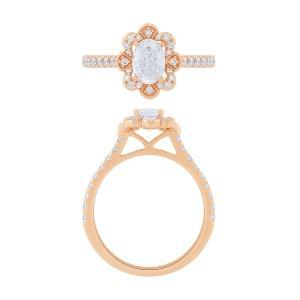 """0.55CT. CENTER AND 0.88CT. T.W. """"NOVELLO-COLLECTION"""" LAB GROWN DIAMOND RING IN 14K GOLD"""