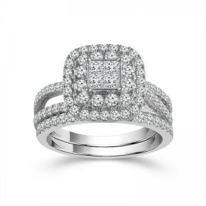 "1.16CT. T.W. DIAMOND ""Ovani® COLLECTION""  BRIDAL SET IN 18K GOLD"