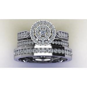 1CT. T.W. DIAMOND TRIO SET RING IN 14K GOLD