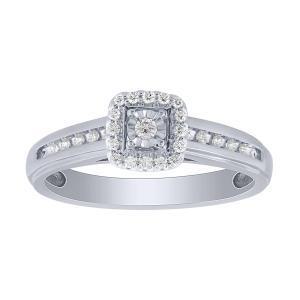 0.17 CT. T.W. Diamond Ring In 10K Gold