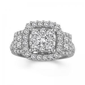 "2CT. T.W. ""FAIRYTALE"" DIAMOND BRIDAL DIAMOND RING IN 14K GOLD"